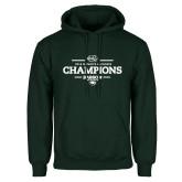 Dark Green Fleece Hood-2018 Womens Lacrosse Champions