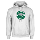 White Fleece Hoodie-Mascot Design