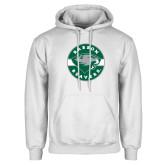 White Fleece Hoodie-Mascot Design