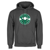 Charcoal Fleece Hoodie-Mascot Design