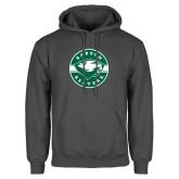Charcoal Fleece Hoodie-Mascot Design