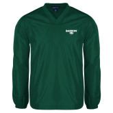 V Neck Dark Green Raglan Windshirt-Secondary Mark