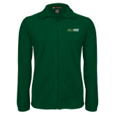 Fleece Full Zip Dark Green Jacket-Centennial Mark Horizontal