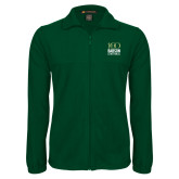 Fleece Full Zip Dark Green Jacket-Centennial Mark Vertical