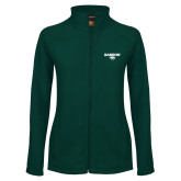 Ladies Fleece Full Zip Dark Green Jacket-Secondary Mark