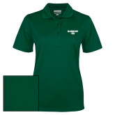 Ladies Dark Green Dry Mesh Polo-Secondary Mark