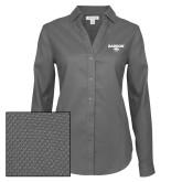 Ladies Red House Diamond Dobby Charcoal Long Sleeve Shirt-Secondary Mark