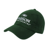 College Dark Green Twill Unstructured Low Profile Hat-Cross Country