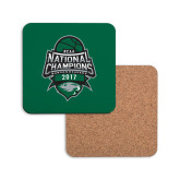 Hardboard Coaster w/Cork Backing-2017 National Basketball Champions