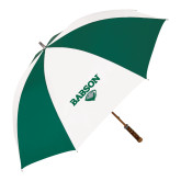 62 Inch Forest Green/White Umbrella-Secondary Mark