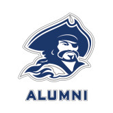Alumni Decal-Buccaneer Head, 6 in W