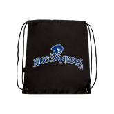 Black Drawstring Backpack-Arched Buccaneers