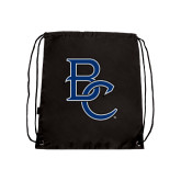 Black Drawstring Backpack-Interlocking BC