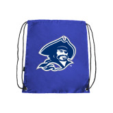 Nylon Royal Drawstring Backpack-Buccaneer Head