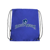 Royal Drawstring Backpack-Arched Buccaneers