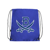 Nylon Royal Drawstring Backpack-B w/Swords