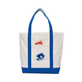 Contender White/Royal Canvas Tote-Buccaneer Head