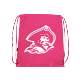 Pink Drawstring Backpack-Buccaneer Head