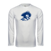 Syntrel Performance White Longsleeve Shirt-Buccaneer Head