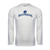 Performance White Longsleeve Shirt-Arched Buccaneers