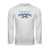 Syntrel Performance White Longsleeve Shirt-Blinn College Buccaneers