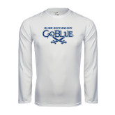 Syntrel Performance White Longsleeve Shirt-Blinn Buccaneers Go Blue