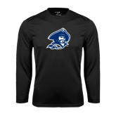 Syntrel Performance Black Longsleeve Shirt-Buccaneer Head
