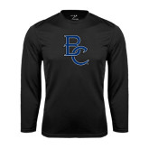 Syntrel Performance Black Longsleeve Shirt-Interlocking BC