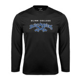 Syntrel Performance Black Longsleeve Shirt-Blinn College Buccaneers