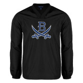 V Neck Black Raglan Windshirt-B w/Swords