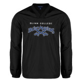 V Neck Black Raglan Windshirt-Blinn College Buccaneers