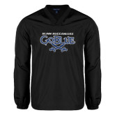 V Neck Black Raglan Windshirt-Blinn Buccaneers Go Blue