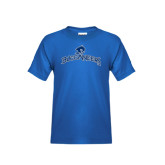 Youth Royal Blue T Shirt-Arched Buccaneers