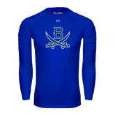 Under Armour Royal Long Sleeve Tech Tee-B w/Swords
