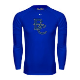 Under Armour Royal Long Sleeve Tech Tee-Interlocking BC