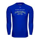 Under Armour Royal Long Sleeve Tech Tee-Blinn College Buccaneers