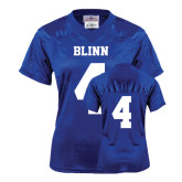 Ladies Royal Replica Football Jersey-#4