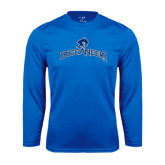 Performance Royal Longsleeve Shirt-Arched Buccaneers