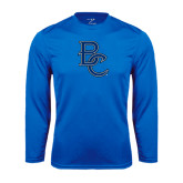 Syntrel Performance Royal Longsleeve Shirt-Interlocking BC