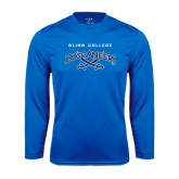 Syntrel Performance Royal Longsleeve Shirt-Blinn College Buccaneers