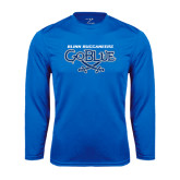 Syntrel Performance Royal Longsleeve Shirt-Blinn Buccaneers Go Blue