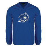V Neck Royal Raglan Windshirt-Buccaneer Head