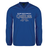 V Neck Royal Raglan Windshirt-Blinn Buccaneers Go Blue