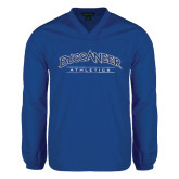 V Neck Royal Raglan Windshirt-Athletics