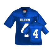 Youth Replica Royal Football Jersey-#4
