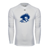 Under Armour White Long Sleeve Tech Tee-Buccaneer Head
