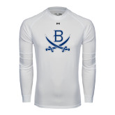 Under Armour White Long Sleeve Tech Tee-B w/Swords