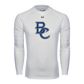 Under Armour White Long Sleeve Tech Tee-Interlocking BC