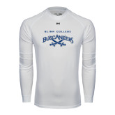 Under Armour White Long Sleeve Tech Tee-Blinn College Buccaneers