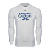 Under Armour White Long Sleeve Tech Tee-Blinn Buccaneers Go Blue